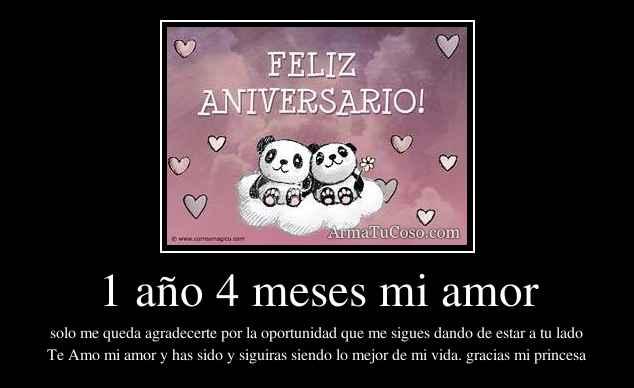 28 Meses Mi Amor: 1 Año 4 Meses Mi Amor