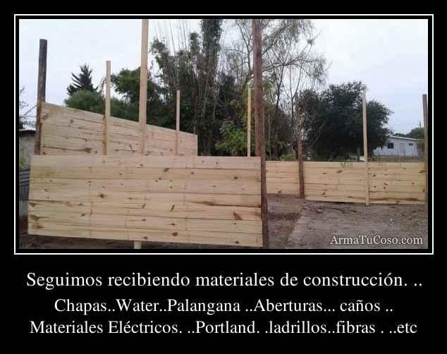 Seguimos recibiendo materiales de construcci n - Cano materiales de construccion ...