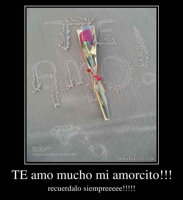 TE amo mucho mi amorcito!!!